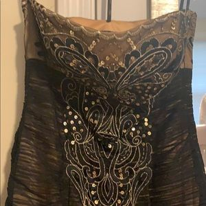 Sue Wong black and gold dress